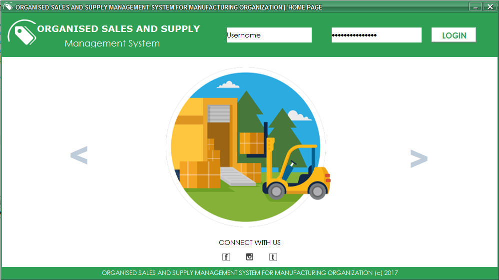 Sales and Supply Management System For Manufacturing Organization